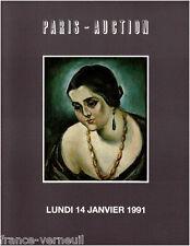 Catalogue de vente Atelier Tableau Albert E.Vagh Etienne Picard Salomon Gwen