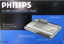 Philips CASSETTE Recorder Clock Radio AJ3802 FOR OVERSEAS 220 Volts Only NEW