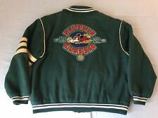 VTG 80S MICKEY MOUSE DISNEY MAULERS PIGSKIN CLASSIC WOOL VARSITY JACKET MENS XL