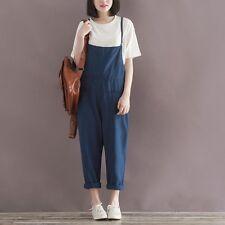 2016 Fashion Casual Linen&Cotton Strap Romper Jumpsuit Harem Trousers Overalls