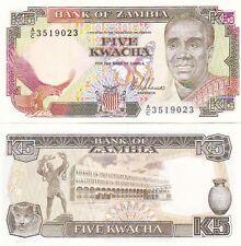 ZAMBIA BANCONOTA 5 KWACHA MAI CIRCOLATA