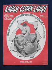 ORIGINAL SHEET MUSIC for LON CHANEY Silent Film 'LAUGH CLOWN LAUGH'