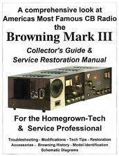 Browning Eagle Mark III  Service Manual -180 Amp, Speaker, VFO &Collectors Guide