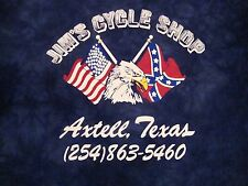 Jim's Cyc;e Shop Axtell Texas Motorcycles The Mountain Bald Eagle Flag T Shirt L