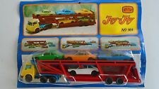 vintage truck  trailer  4 cars . n161  JOY TOY greece toys