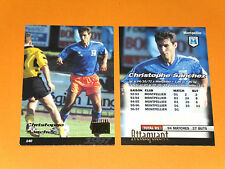 CHRISTOPHE SANCHEZ SC MONTPELLIER PAILLADE MOSSON FOOTBALL CARD PANINI 1996-1997
