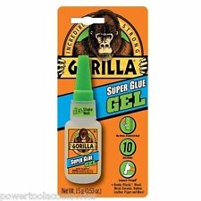 1 x 15g Gorilla SUPER Glue GEL for metal, wood, ceramics, leather, plastics.