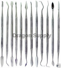 New Set of 12 Denal Picks Probe Wax Carver- Stainless Steel * US SHIPPER *