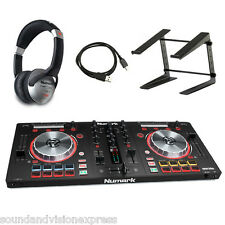 Numark Mixtrack Pro 3 MP3 Controller + 2-Ch Mixer + Serato + Stand + Headphones