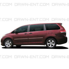 For: TOYOTA SIENNA; PAINTED Body Side Moldings Trim With Chrome Insert 2011-2017