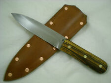 "Jeff C. Morgan, Custom 1095HC Steel ""Green River"" Bushcraft Knife, Bocote, USA"