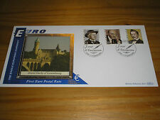 """2001 BENHAM """"Euro"""" Postal Rate First LUXEMBOURG Stamp FDC Cover LUXEMBOURG Pmark"""
