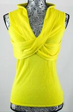 Ralph Lauren Silk Cashmere Yellow Wrap Top sz. M 100% Authentic BNWT $425