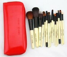 BOBBI BROWN 15pcs Red Professional Makeup Brush Sets With Carry Bag