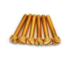 (6) Gold Pole Piece Screws for Gibson® PAF & USA Humbucker Pickup GS-5453-002