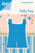 JOY CRAFTS CUTTING & EMBOSSING DIE STENCIL BABY BOY ROMPER PANTS SUIT 6002/0208