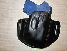 RUGER LCP WITH CRIMSONTRACE LASER, FORMED LEATHER PANCAKE  HOLSTER, RIGHT HAND