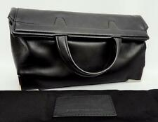 Alexander Wang Prisma black Leather Fold Over Clutch Bag