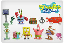 Sponge Bob Square Pants Cake Toppers Patrick Squidward Set of 12 Figures