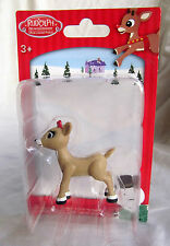 Clarice Rudolph Reindeer Red Nosed Christmas Village Figure Figurine Cake Topper