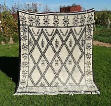 "Vintage Handmade Moroccan BENI OURAIN  Rugs Berber Carpets  6'5"" x 5'7"""