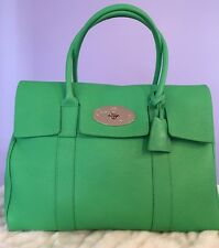 Mulberry Bayswater textured-leather tote - Green