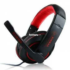 3.5mm Stereo Headset Headphone Earphone Fashion for Laptop PC With Microphone
