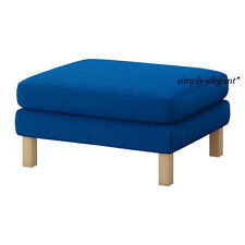 NEW Ikea SLIPCOVER for Karlstad Footstool Cover for Ottoman Korndal Medium Blue