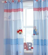 IZZIWOTNOT HUMPHREYS CORNER LITTLE RED CAR TAB TOP CURTAINS WEEKEND OFFER