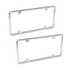 2 Sets Zinc Alloy License Plate Frame Universal for Almost All Cars Trucks