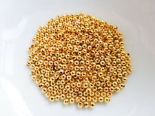 500 x 2mm Round Spacer Beads Gold, NF, Findings, Beads Metal    (MBX0048)