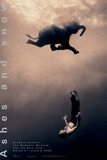 GREGORY COLBERT - Swimming with Elephant, New York ART PRINT 36x24 Photo Poster