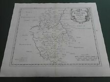 100% ORIGINAL LARGE BEDFORDSHIRE MAP BY ROBERT MORDEN C1722 LOW POST