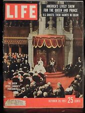 LIFE October 28,1957 Queen in Canada / Ghosts / Space Flight / Syria / Taxidermy