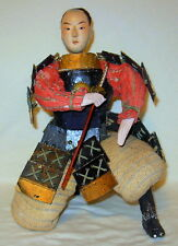 Large Vintage Japanese Gofun Samurai Armor Warrior Doll