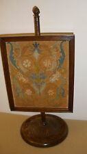 """Antique Double-sided Embroidered Table-top Fire Screen - 11"""" x 9 1/4"""""""