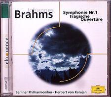 Herbert di Karajan: Brahms Symphony No. 1 Tragic Overture DG CD 1964/1978