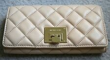 NWT MICHAEL MICHAEL KORS Astrid Quilted Carryall Clutch Wallet Nude $178