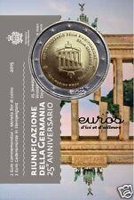 """Pièce commémorative 2 euros SAINT MARIN 2015 BU  """"Réunification Allemande"""""""