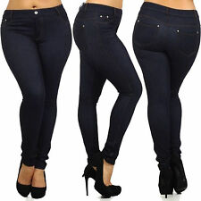 Skinny Womens Jeans Stretchy Jeggings Ladies New Fit Coloured Trousers Size 8 26
