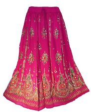 Indian Bollywood boho gypsy tribal belly dance maxi sequins skirt