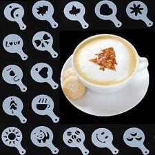 16 Plantilla Flores Pad Duster Molde Décor Café Capuchino Barista Cafetería