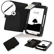 Forefront Hülle Leder Schwarz Schutzhülle Tasche für Amazon Kindle 2016 Stift