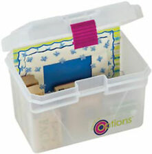 "Creative Options Pro Latch Mini Tool recipe index card Box 6.5""X5""X5""storage bin"
