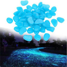 US 100pcs Glow In The Dark Stones Pebbles Rock Fish Tank Aquarium Garden Walkway
