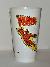HUMAN TORCH MARVEL SUPER HEROES 7-11 CUP 1975 FANTASTIC FOUR