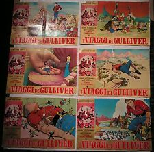 10 Fotobuste I VIAGGI DI GULLIVER 1° EDIZIONE 1951 REGIA DI DAVE FLEISCHER