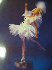 Swan Lake Ballerina Barbie doll on music box stand - MIB - Excellent condition