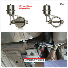 63mm Stainless Steel Exhaust Control Valve Set Boost Actuator Open Style Pipe