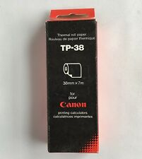 Canon TP-38 Thermal Roll Paper 1 Box With 5 Rolls 38mm x 7mm Calculator TP-6 7 8